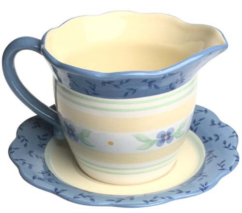 Breeze Gravy Boat (Pfaltzgraff Summer Breeze Gravy Boat with Saucer)