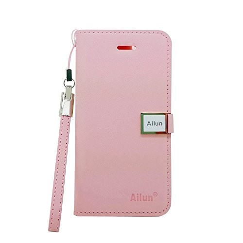 Case for Iphone5s, Fashion Ailun Leather Wallet Card Flip Case Cover Skin for Apple Iphone 5 5g 5s (Shocking pink)