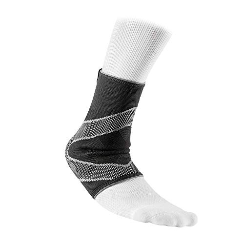 McDavid Level 2 Ankle Sleeve/4-Way Elastic with Gel Buttresses, Black, Medium