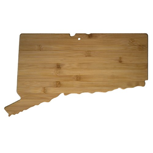 Totally Bamboo Connecticut State Shaped Bamboo Serving and Cutting Board