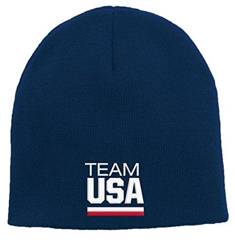 Team Knit Beanie (Team USA Olympic Games Cuffless Knit Hat - Navy)