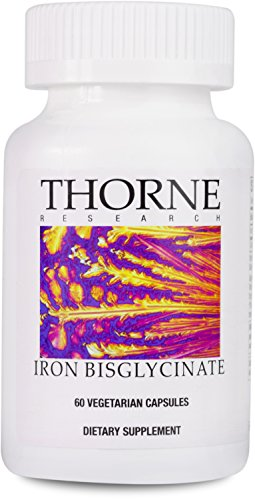 Thorne Research - Iron Bisglycinate - 25 mg Supplement for Enhanced Iron Absorption - NSF Certified for Sport - 60 Capsules