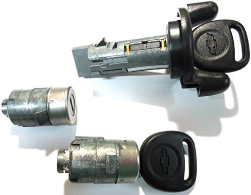 Amazon Com 704600 706592 For Select Chevrolet Oem Ignition Switch Lock Cylinder 2 Door Lock Cylinder 2 Keys Automotive