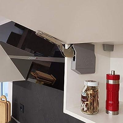 Blum Aventos HK-S - Herraje para tip-on 20K2E01T (LF 960-2215) con loción para apertura plegable 107°, incluye tapas de color gris y juego de fijación frontal de SO-TECH®: Amazon.es: Bricolaje y herramientas
