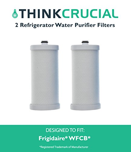 2 Frigidaire WFBC Refrigerator Water Purifier Filter, Part # 5303917752, RF-200, RC-200, RC-101 & 46-9906, Premium Filtration, Fits RC101, RC200, RF200, RC-101, RC-200, RF-200, 218710901, 218710902, 218732306 , 218904501, 218904602, 218907800 , 5303917752, 5303917937, 5303918017, SWFCB, Kenmore 9906, 469906, 46-9906, 9906P & 4609906000, by Think Crucial