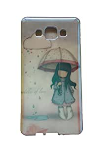 "Evess "" NOVEDAD "" Funda Carcasa Cover Silicona Tpu niña Paraguas , Samsung Galaxy A5 Dibujo muy Brillante"