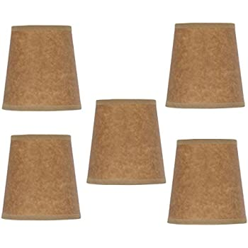 Mini chandelier shades clip on small lamp shades set of five burlap mini chandelier shades clip on small lamp shades set of five oiled craft paper aloadofball Image collections