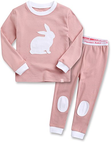 Vaenait baby Kids Girls 100% Cotton Sleepwear Pajamas 2pcs Set Bono Rabbit -