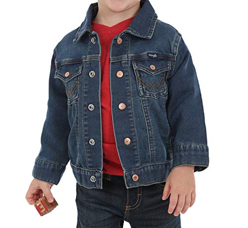 Wrangler Baby Boys Denim Jacket, Dark Blue, 2T