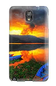 SCbTV4470GKmHS Case Cover, Fashionable Galaxy Note 3 Case - Lake Scenery