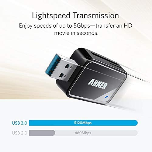 SanFlash PRO USB 3.0 Card Reader Works for Verykool Rock RX2 Adapter to Directly Read at 5Gbps Your MicroSDHC MicroSDXC Cards