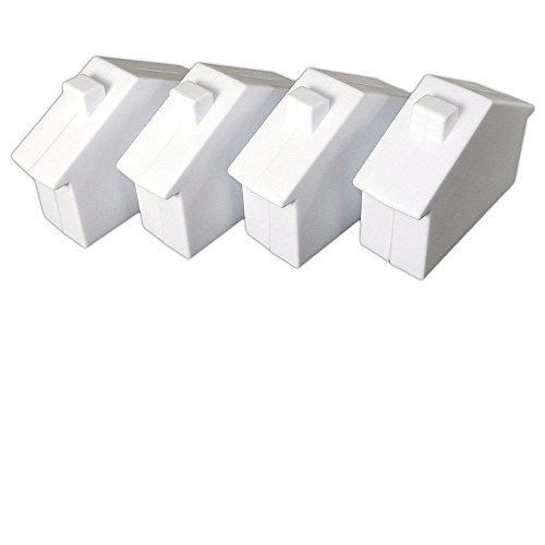 Plastic House Bank - Plastic House Coin Saving Banks, Saving Money the Fun Way, Kids Savings Bank Plastic Coin Box White - House Shaped coin bank, teach kids money management, cheap stuff for school, Bulk Lot of 4.