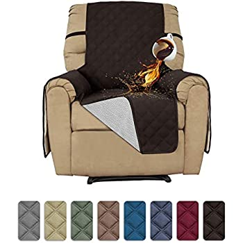 Easy-Going Sofa Slipcover Recliner Cover Waterproof Couch Cover Furniture Protector Sofa Cover Pets Covers Whole Fabric No Stitching Non-Slip Fabric Pets Kids Children Dog Cat (Recliner, Chocolate)