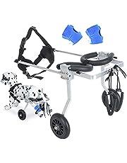 Dog Wheelchair for Back Legs, Dog Wheelchair Small with Dog Leg Brace, Aluminium Adjustable 2 Wheels Pet Wheelchair Cat Wheel