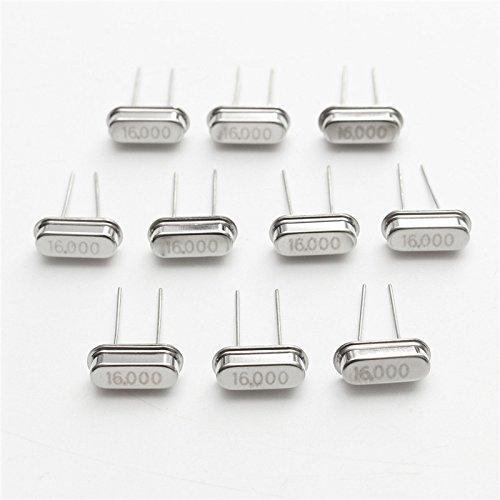 LaDicha 10Pcs Hc-49S 16Mhz 16 MHz 16M Hz 16.000 M Mini Risonatore Passivo Quarzo Oscillatore di Cristallo