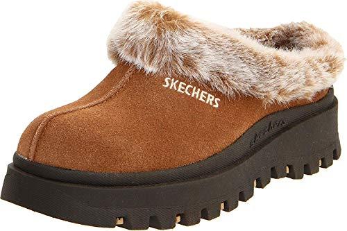 Skechers Women's Fortress Clog Slipper,Chestnut,6.5 M US