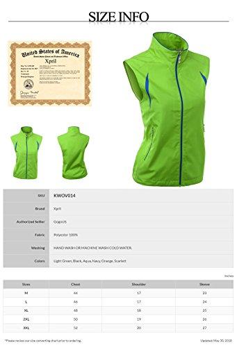 Xpril 2-Tone All Weather Proof Vest Black Size L by Xpril (Image #4)