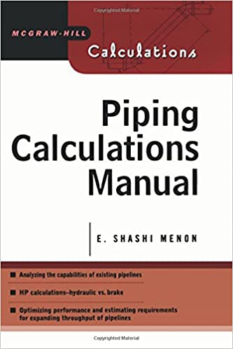 Amazon com: Piping Calculations Manual (Mcgraw-Hill