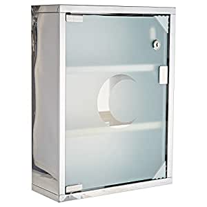 First Aid Stainless Steel Cabinet With Glass Door & lock