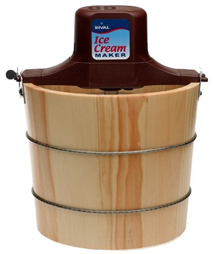 Rival 8550-X 5-Quart Wooden Electric Ice Cream Maker ()