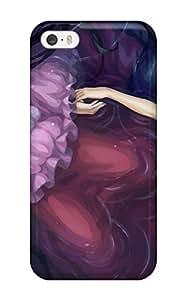 3986573K792734041 blade anime girl skull Anime Pop Culture Hard Plastic iPhone 5/5s cases