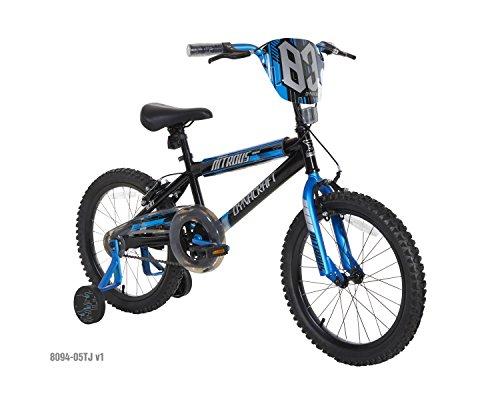 Dynacraft Boys Nitrous Bike, Black/Blue, 18