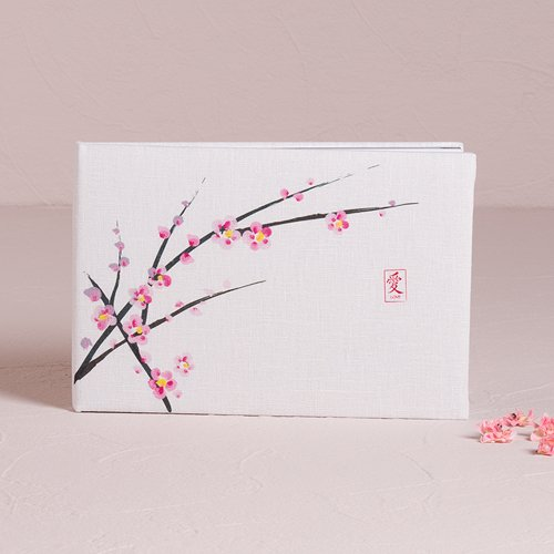 Weddingstar Cherry Blossom Traditional Guest Book