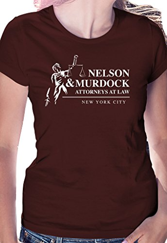 Nelson and Murdock Attorneys at Law - LeRage Shirts WOMEN'S MAROON - We Nelson
