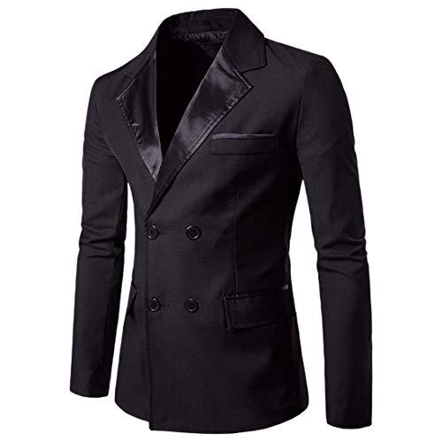 Double Vestes Cut Hommes Breasted Homme Slim Mode Schwarz Vêtements Blazer Loisirs Saoye Affaires Casual Costume Veste wT0g1tzgnq