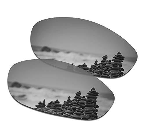 SmartVLT Men's Silver Titanium Replacement Lenses for Oakley Monster Dog Sunglass