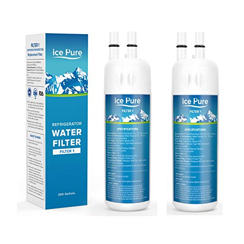 ICE PURE Refrigerator Water Filter For FILTER 1 Kenmore 9081 Compatible with 9930 46-9930 Kenmore 469081 Water Filter for Kenmore 9930 Water Filter(2 Packs) Overall Color White
