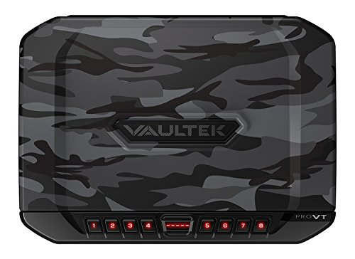 (Vaultek VT Full-Size Handgun Bluetooth Smart Safe Multiple Pistol Safe with Auto-Open Lid and Rechargeable Battery (Camo) )