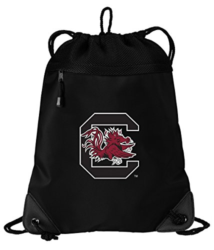 Broad Bay South Carolina Gamecocks Drawstring Bag University of South Carolina Cinch Pack Backpack UNIQUE MESH & MICROFIBER by Broad Bay