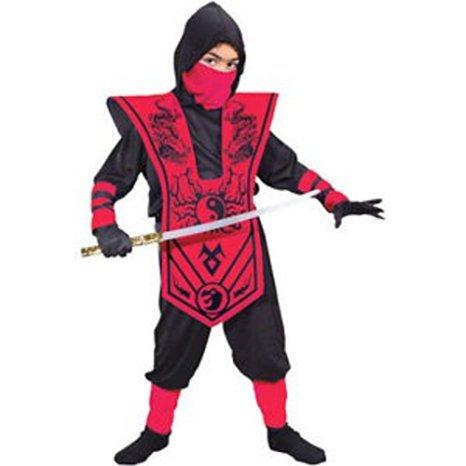 Fun W (Red Skull Warrior Ninja Child Costume)