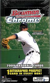 2009 Bowman Chrome Baseball Card box (18 pk - Baseball Bowman Cards Hobby Chrome