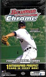 2009 Bowman Chrome Baseball Card box (18 pk - Chrome Hobby Cards Baseball Bowman