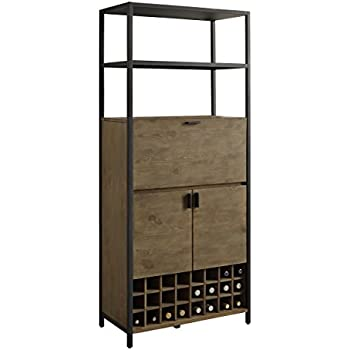 this item kitchen pantry cabinet two open shelves wine storage rustic wood delonghi review rack amazon vintec reviews