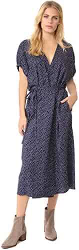 Vince Women's Celestial Polka Dot Kimono Wrap Dress