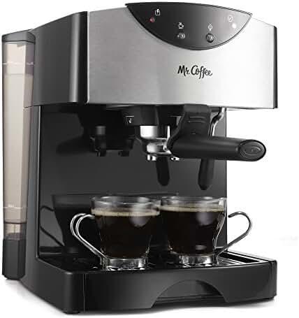 Mr. Coffee Automatic Dual Shot Espresso/Cappuccino System, ECMP50