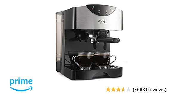 Amazon.com: Mr. Coffee Automatic Dual Shot Espresso/Cappuccino System: Espresso Machines: Kitchen & Dining