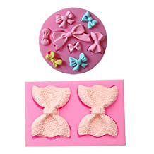 (2 in set)Bow Art Deco Silicone Mold Sugar Craft DIY Gumpaste Cake Decorating Clay mold chocolate fondant mold