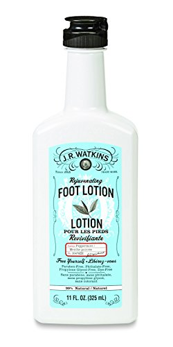 J.R. Watkins Natural Rejuvenating Foot Lotion, Peppermint, 11 Ounce (Pack of 3) (Foot Rejuvenating Cream Watkins)