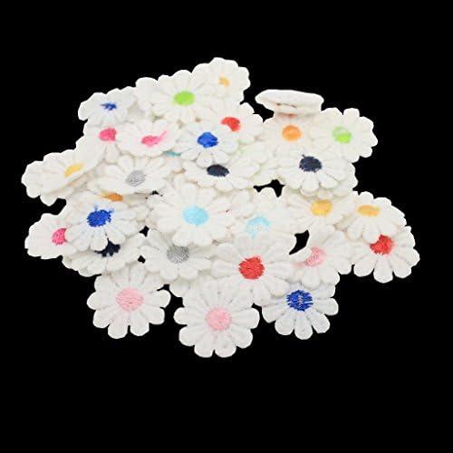 50個セット 花形 縫製パッチ アップリケ レース 手芸用品 手作り 装飾