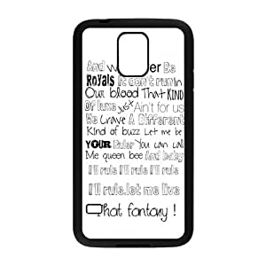 Custom Royals-Lorde Snap On Hard Protection TPU Case Cover For Samsung Galaxy S5
