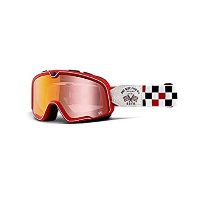 100% Barstow Adult Off-Road Goggles - Osfa 2 Red Lens/One Size