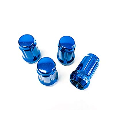 UPGR8 S-Series 4 Pieces Steel Closed Ended 6 Point Spline M12 X 1.25MM Wheel Lug Nuts NO Key Included (Blue 4PCS): Automotive
