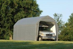 ShelterLogic 12Ft.W Homestead Barn Style Garage - 20ft.L x 12ft.W x 11ft.H, Gray, Model# 90053 by ShelterLogic