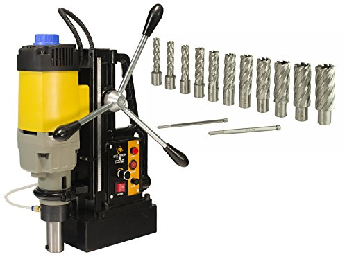 Steel Dragon Tools MD50 Magnetic Drill Press with 13pc 2in. HSS Annular Cutter Kit