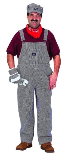 Adult Train Engineer Suit Costume Size: Small (Adult Train Engineer Costume)