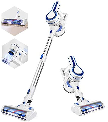 APOSEN Cordless Vacuum Cleaner, Powerful Suction Stick Vacuum Cleaner 4 in 1 with Rechargeable Battery and 1.2L Large Dust Container, Vacuum for Hard Wood Tile Floor Pet Hair